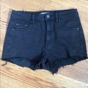 Aritzia Black Denim Shorts
